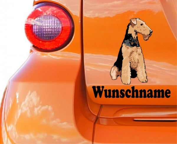 Airedale Terrier mit Wunschname